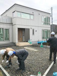 札幌市西区Y様邸 カーポートおよび物置設置工事-1
