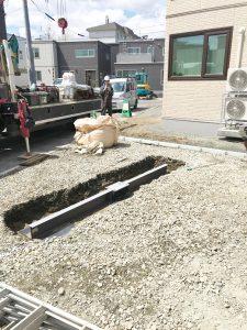 札幌市西区Y様邸 カーポートおよび物置設置工事-2