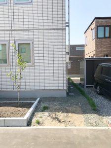 札幌市西区Y様邸 カーポートおよび物置設置工事-5