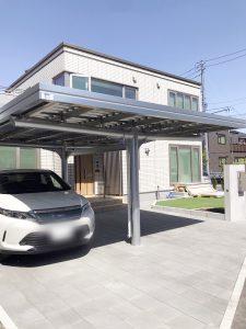 札幌市西区Y様邸 カーポートおよび物置設置工事-3