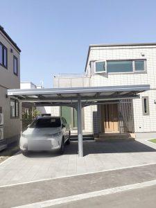 札幌市西区Y様邸 カーポートおよび物置設置工事-4