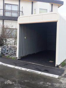 札幌市手稲区O様邸 車庫内アスファルト工事・縁石切下げ工事-3