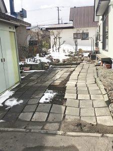 札幌市手稲区S様邸 アスファルト工事・縁石切下げ工事-1