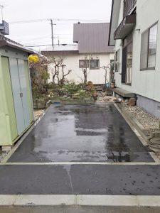 札幌市手稲区S様邸 アスファルト工事・縁石切下げ工事-3