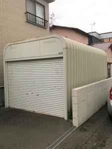 札幌市北区S様邸 車庫および塀の補修・アスファルト工事-1