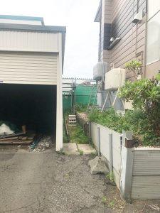 札幌市東区K様邸 ガレージ解体・ブロック塀の施工・アスファルト・ビリ砂敷設・民地石設置-2