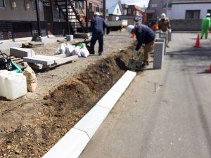 札幌市厚別区U様Sアパート 縁石切下工事-2