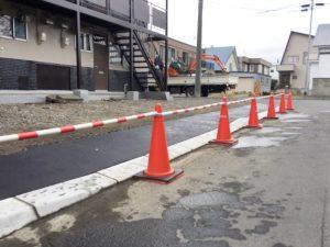 札幌市厚別区U様Sアパート 縁石切下工事-4