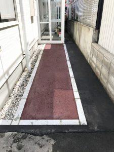 札幌市西区O様邸カラーアスファルト敷設工事-2