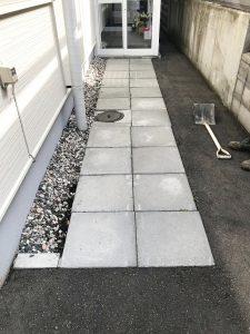 札幌市西区O様邸カラーアスファルト敷設工事-1