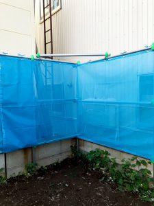 2020年7月施工 札幌市東区K様邸 単管・ネット交換工事-4