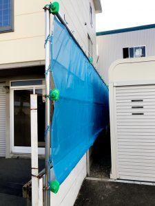 2020年7月施工 札幌市東区K様邸 単管・ネット交換工事-3