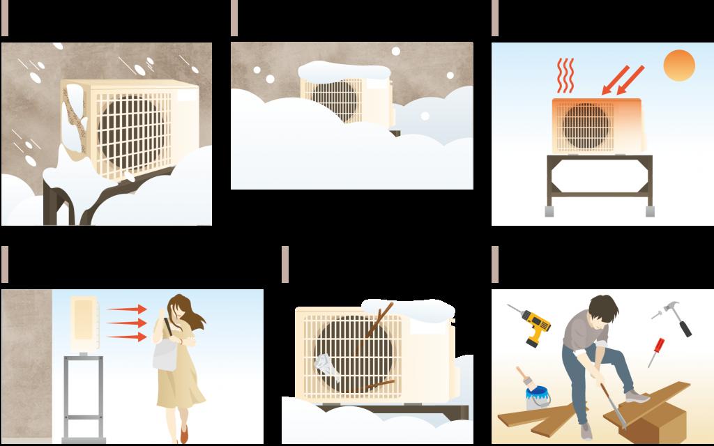 エアコン等室外機カバーユニット ヴェルアート エアコン等の室外機ユニットの能力低下・故障・イタズラを防ぎます。