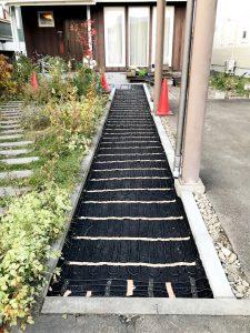 2020年11月 札幌市厚別区Y様邸 電気ロードヒーティング工事-施工中1