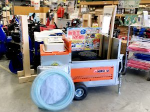 2020年 ホーマック湯川店 移動式融雪機「太郎」展示
