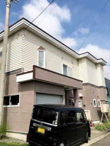 2020年10月施工 岩見沢市S様邸 造作雪庇防止工事-施工前