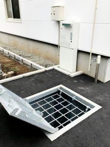 2020年11月施工 札幌市西区 A様邸 温水式(都市ガス)埋設型融雪槽 快冬くんⅱ設置工事-設置後3