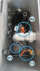 埋設型融雪機 融雪王HS-2200 ポンプ室