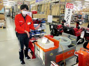 2020年 DCMホーマック滝川店 移動式融雪機 太郎HR-1400-275G 展示