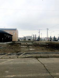 2020年12月施工 夕張郡長沼 新築AP 温水ロードヒーティング工事・歩道縁石切り下げ工事-施工前2