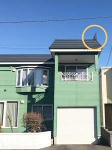 2020年12月施工 札幌市西区 A様邸 雪庇防止工事-施工後1