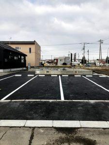 2020年12月施工 夕張郡長沼 新築AP 温水ロードヒーティング工事・歩道縁石切り下げ工事-施工後2