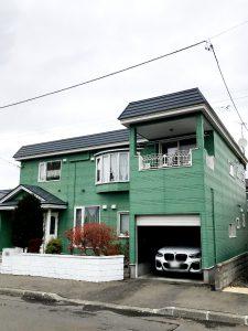 2020年12月施工 札幌市西区 A様邸 雪庇防止工事-施工前1