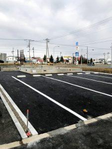 2020年12月施工 夕張郡長沼 新築AP 温水ロードヒーティング工事・歩道縁石切り下げ工事-施工後