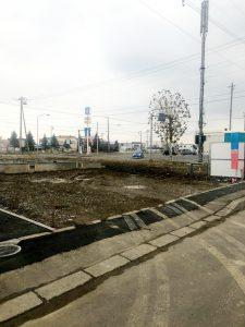 2020年12月施工 夕張郡長沼 新築AP 温水ロードヒーティング工事・歩道縁石切り下げ工事-施工前