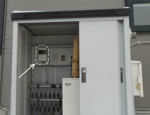 (施工後-2)交換したヒルコ降雪センサー制御部