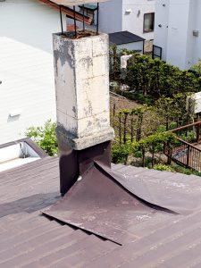 2021年5月施工 旭川市K様邸 造作雪庇ストッパー工事および煙突部分補修-3