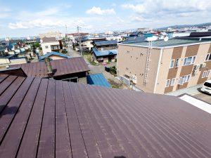 2021年5月施工 旭川市K様邸 造作雪庇ストッパー工事および煙突部分補修-2