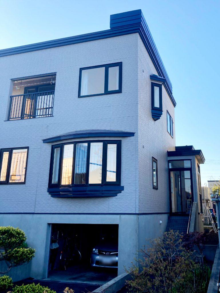 2021年5月施工 札幌市東区K様邸 造作雪庇防止工事(横部金板金)-2