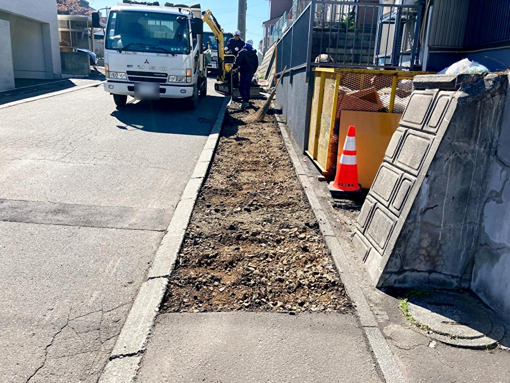 2021年4月施工 札幌市西区T様邸 歩道温水ロードヒーティング工事-2