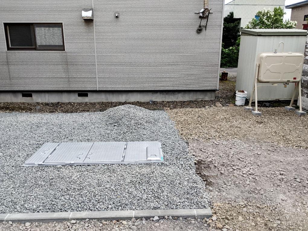 2021年5月施工 旭川市F様邸 融雪王HS-2200および灯油タンク設置工事-5