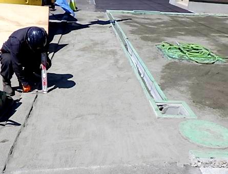 2021年4月施工 札幌市北区T様邸 プロパンガス式快冬くんⅡおよびロードヒーティング工事-4.空練りモルタル敷設後