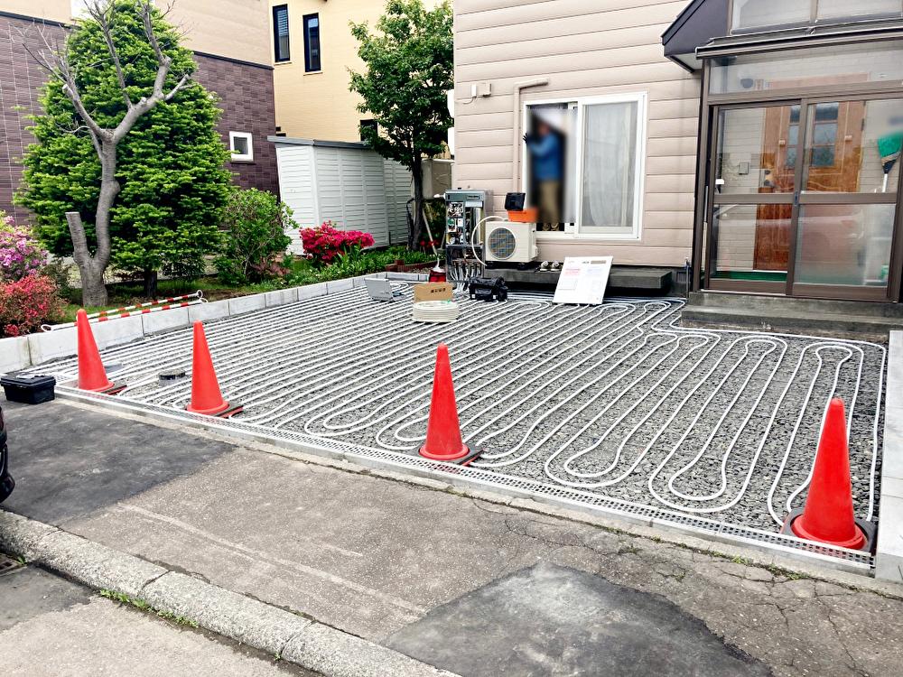 2021年5月施工 札幌市北区Y様邸 温水ロードヒーティング工事(灯油式)-3