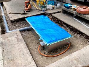 2021年6月施工 函館市 M様邸 埋設型融雪機 融雪王HS-2200設置工事-施工中2