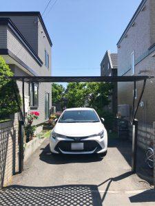 2021年7月施工 札幌市東区 K様邸 カーポート設置工事(LIXILカーポート採光タイプ)-設置前1
