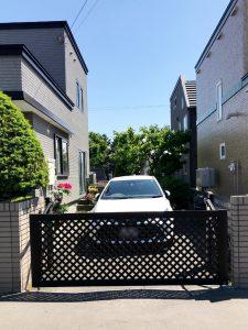 2021年7月施工 札幌市東区 K様邸 カーポート設置工事(LIXILカーポート採光タイプ)-設置前2