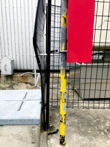 2021年6月施工 岩見沢市 N協様 防油フェンス改修工事-施工前2