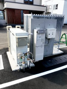 2021年6月施工 札幌市北区 集合住宅 融雪槽およびロードヒーティング工事(都市ガス式)-施工後2(制御盤)