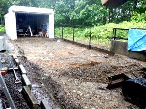 021年7月施工 室蘭市 O様邸 電気ロードヒーティング工事-路盤掘削