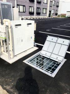 2021年6月施工 札幌市北区 集合住宅 融雪槽およびロードヒーティング工事(都市ガス式)-施工後1