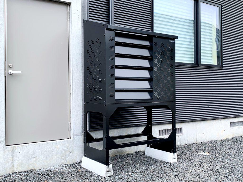 2021年7月設置 岩見沢市 O様邸 室外機カバー「ヴェルアート」-設置例6