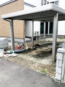 2021年6月施工 札幌市西区 K様邸 外構工事-施工前1