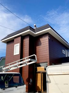 2021年8月施工 札幌市北区K様邸 造作セッピストッパー工事(横葺)-施工前