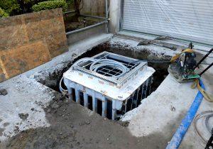 2021年9月施工 青森市 K様邸 埋設型融雪槽 快冬くんⅡ設置工事(灯油式)-2.融雪槽の設置後