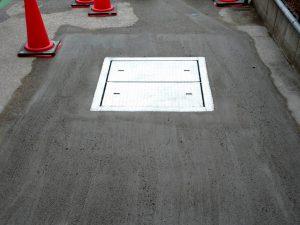 2021年9月施工 青森市 K様邸 埋設型融雪槽 快冬くんⅡ設置工事(灯油式)-7.生コン仕上げ完了