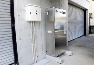 2021年9月施工 青森市 K様邸 埋設型融雪槽 快冬くんⅡ設置工事(灯油式)-8.ボイラーと制御盤